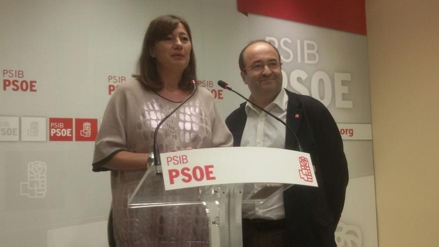 """PSC y PSIB se comprometen a """"ir de la mano"""" para lograr un federalismo fiscal: """"Queremos una España más fraternal"""""""