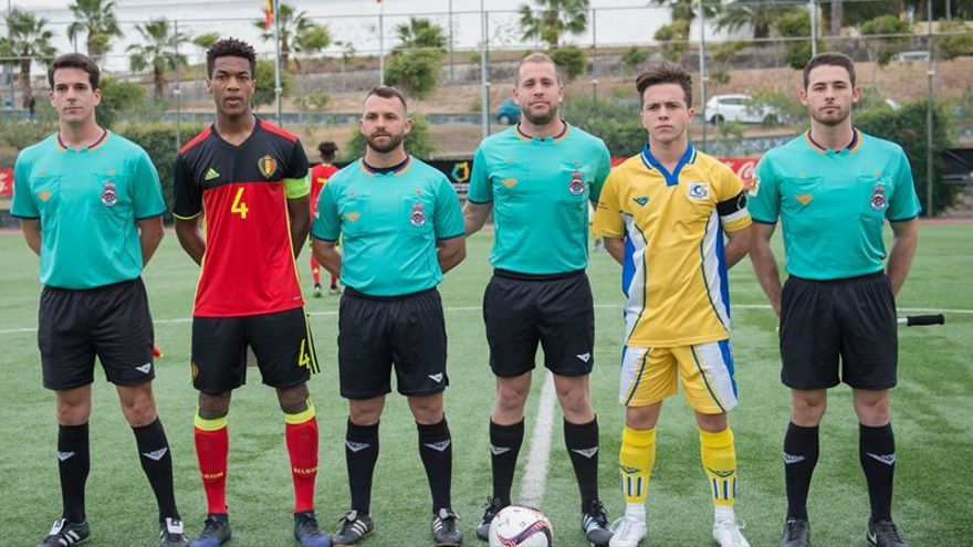 Imagen del encuentro entre Bélgica y Canarias.