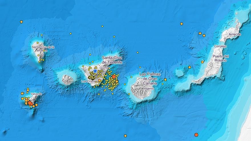 Terremotos registrados en Canarias en los últimos 90 días