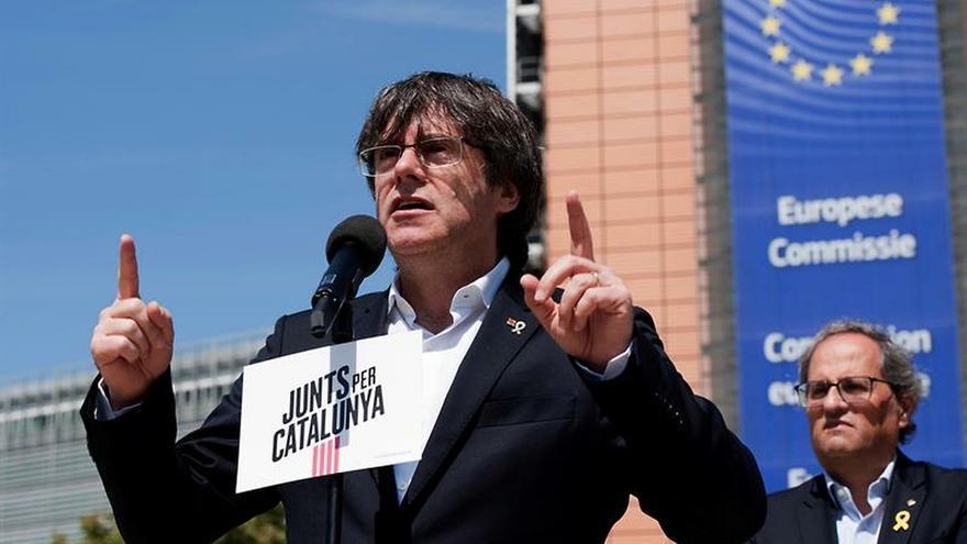 Puigdemont agradece la presencia de independentistas en las calles de Estrasburgo