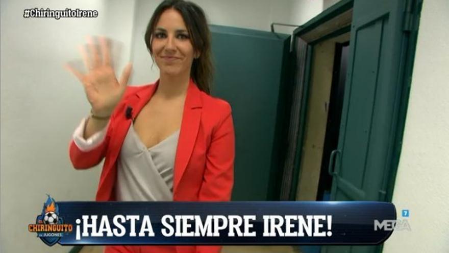 Irene Junquera se despidió de El Chiringuito de Jugones