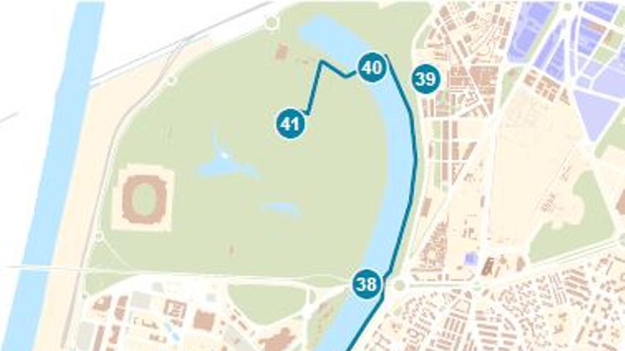Mapa de las rutas del agua