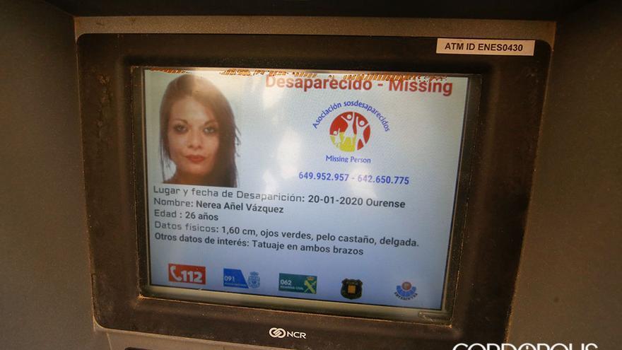 Cajero en Córdoba con la alerta de una persona desaparecida   ÁLEX GALLEGOS