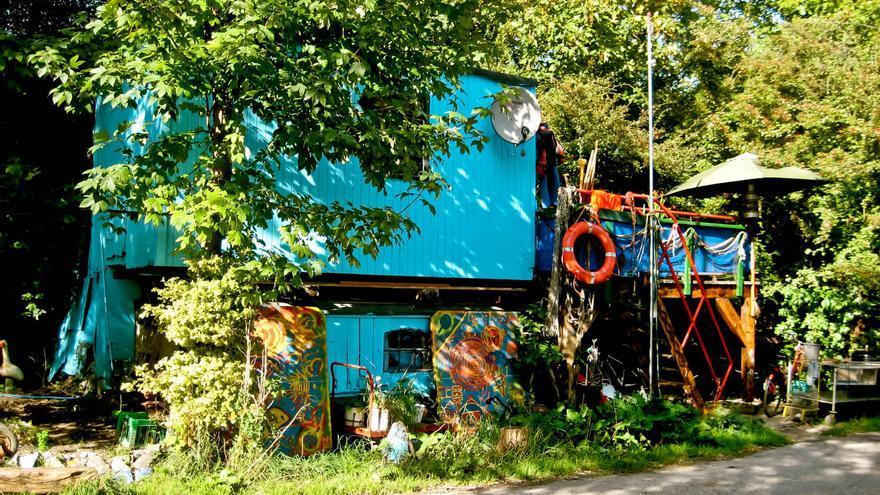 Casa en la zona de canales del barrio de Christianía, en Copenhague.