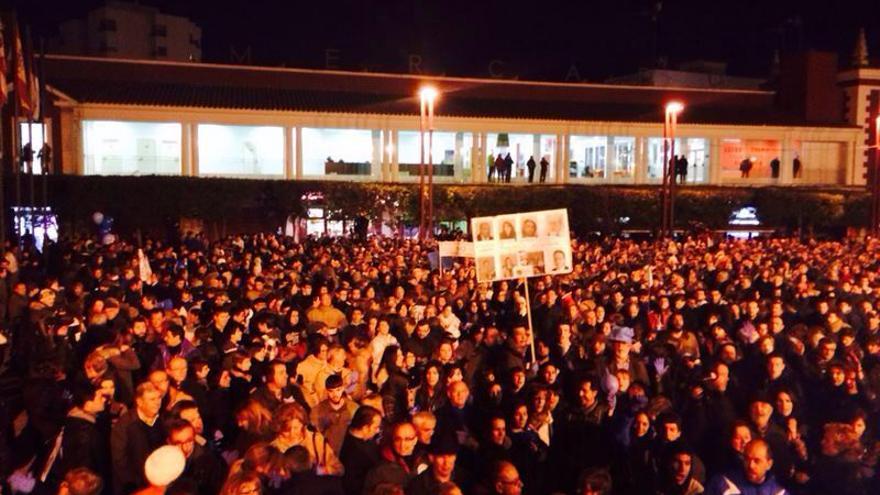 Protesta en la localidad manchega de Alcázar de San Juan contra la privatización del agua. \ Raúl Zarco