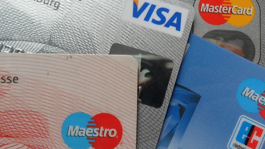 Tarjetas de crédito Visa y Mastercard