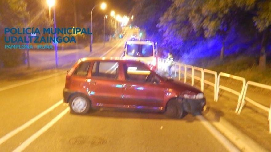 Abiertas diligencias judiciales a una conductora en Pamplona por conducir bajo la influencia de alcohol