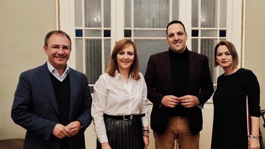 En la imagen los diputados y diputadas de CC-PNC Sergio Rodríguez, Nieves Lady Barreto, Jonathan Felipe y Judit Bayarri.