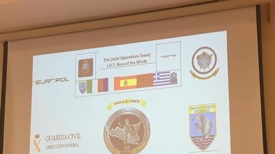 La Guardia Civil explica en Italia con otras policías la operación contra el tráfico de drogas en el Mediterráneo
