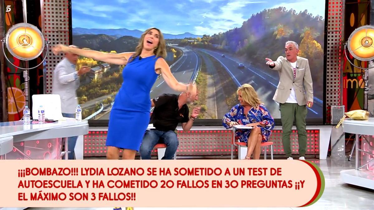 El momento en que se desveló el resultado del test a Lydia Lozano