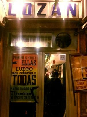 El Lozano, con el cartel reivindicativo que pedía su permanencia