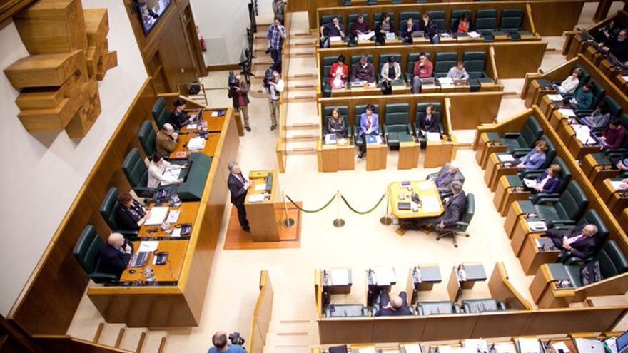 Vista general del hemiciclo del Parlamento Vasco