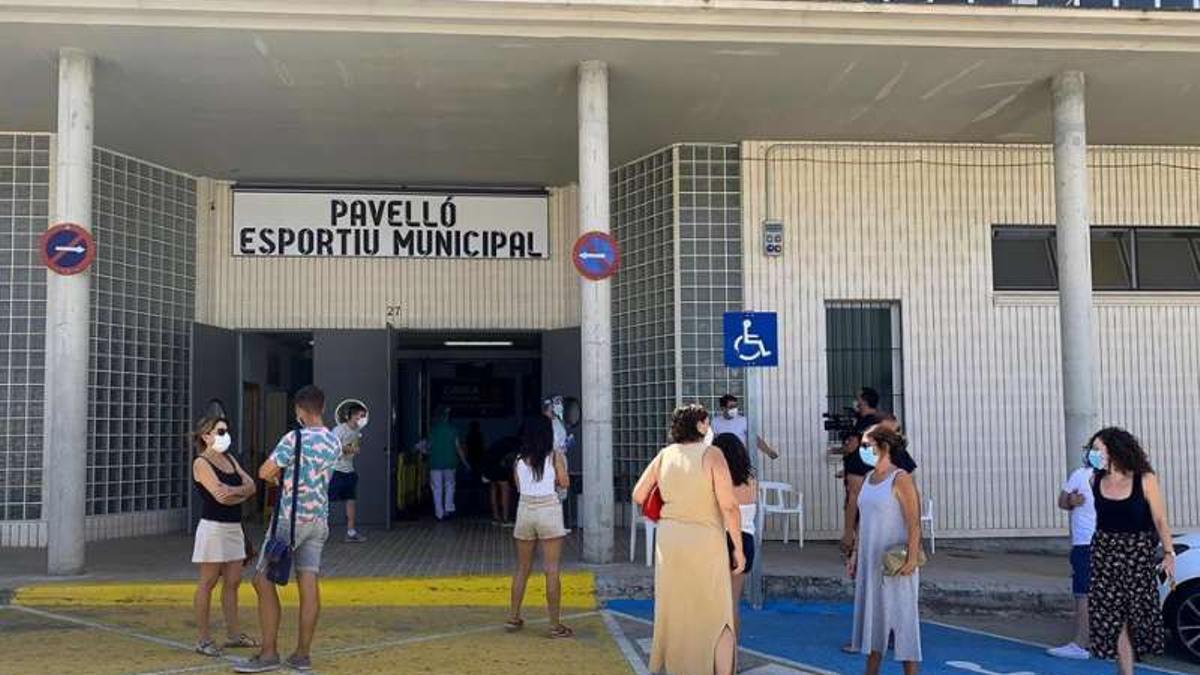 Las pruebas PCR se realizaron al pabellón deportivo de Benigànim.