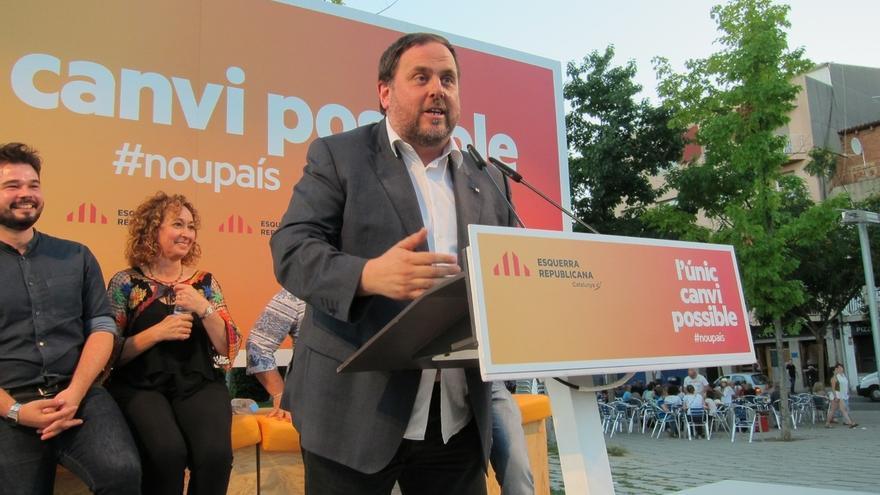 Junqueras avala que la cuestión de confianza a Puigdemont sea después de la Diada