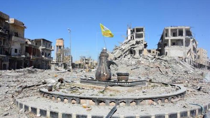 La liberación de Raqqa ha supuesto la caída de las banderas negras de ISIS