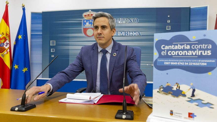 El vicepresidente, Pablo Zuloaga, en rueda de prensa. | MIGUEL ÁNGEL LÓPEZ