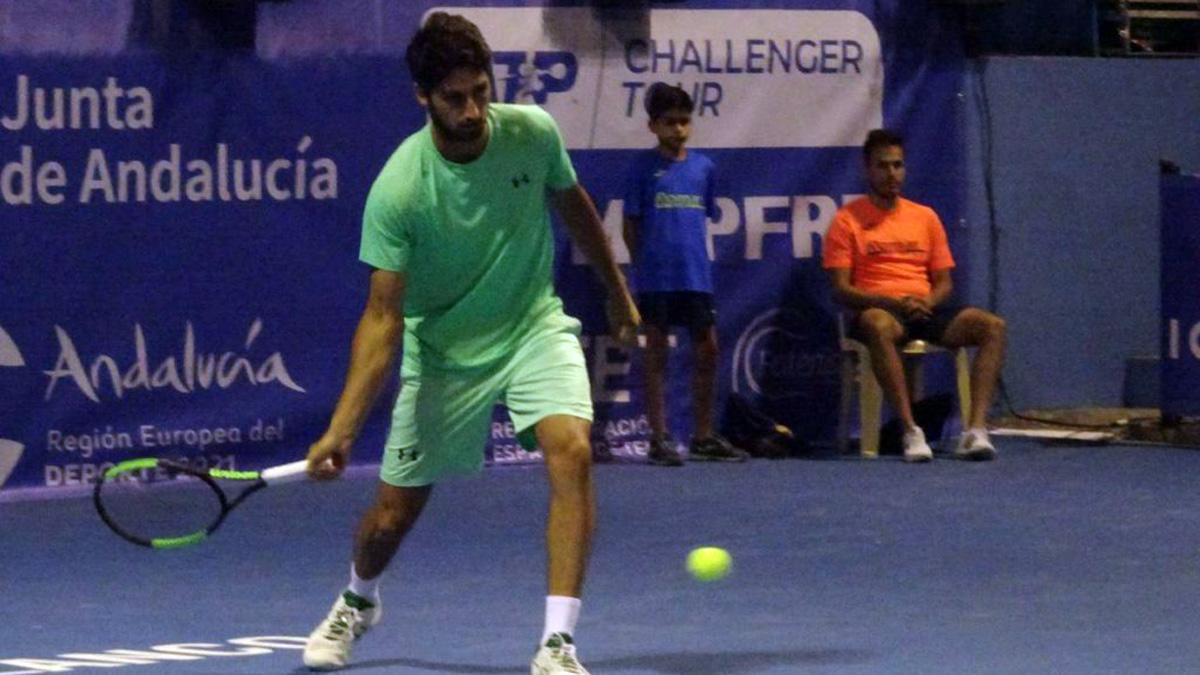Altug Celikbilek, en su semifinal del Open Ciudad de Pozoblanco