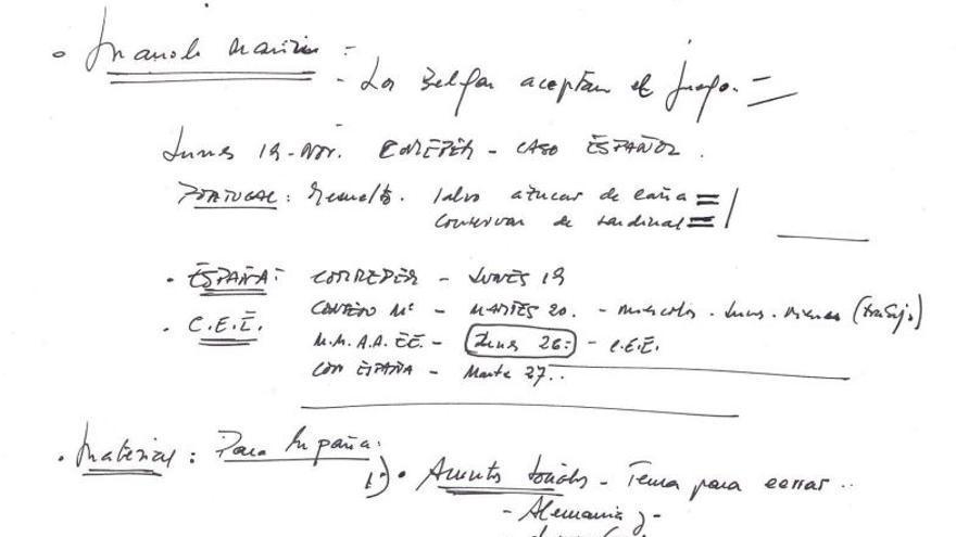 Anotaciones de Felipe González