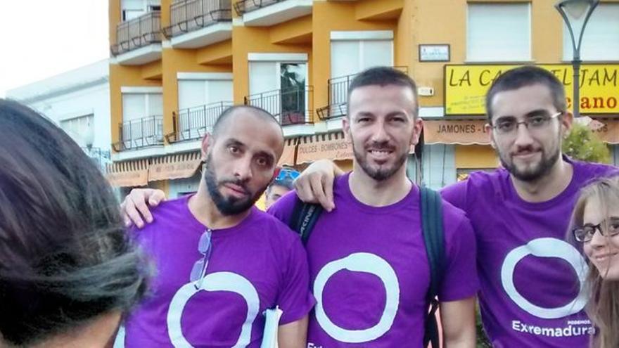 Mimebros de la asamblea de Podemos Mérida