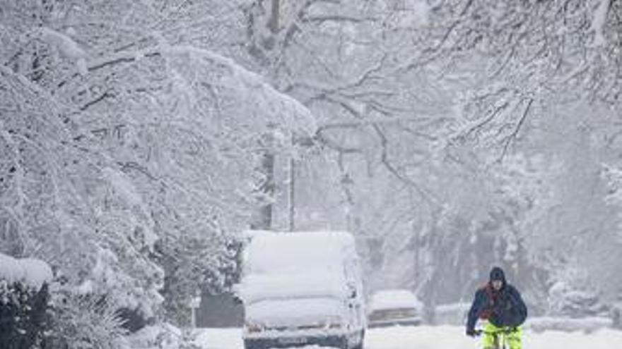 Temporal de frío y nieve en Reino Unido