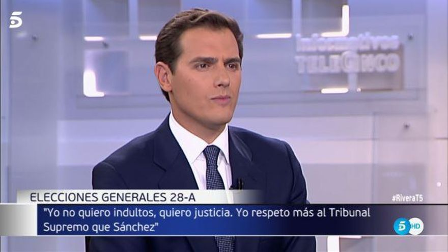 "Albert Rivera asegura que si llega a la presidencia ""no va a haber ni un lazo ni una bandera separatista"""