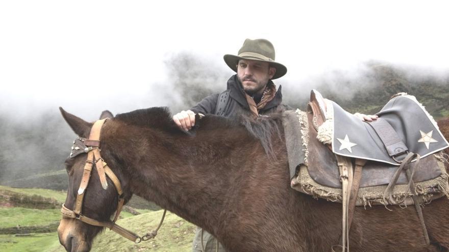 Miguel Gutiérrez Garitano, durante una de sus seis expediciones por Perú en busca de la ciudad perdida de los incas