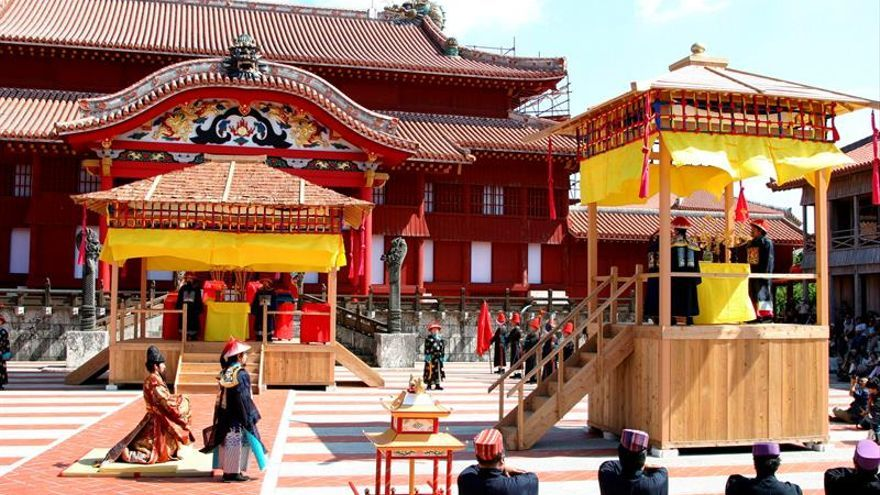 Arde castillo japonés Shuri de Okinawa declarado patrimonio de la humanidad