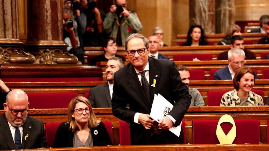 Quim Torra, en el Palau de la Generalitat