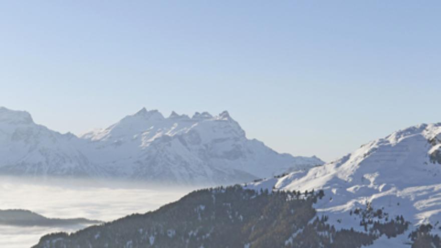 Laura Orgué en la Cronoescalada de los Campeonatos del Mundo de Esquí de Montaña celebrados en Verbier (© ISMF).