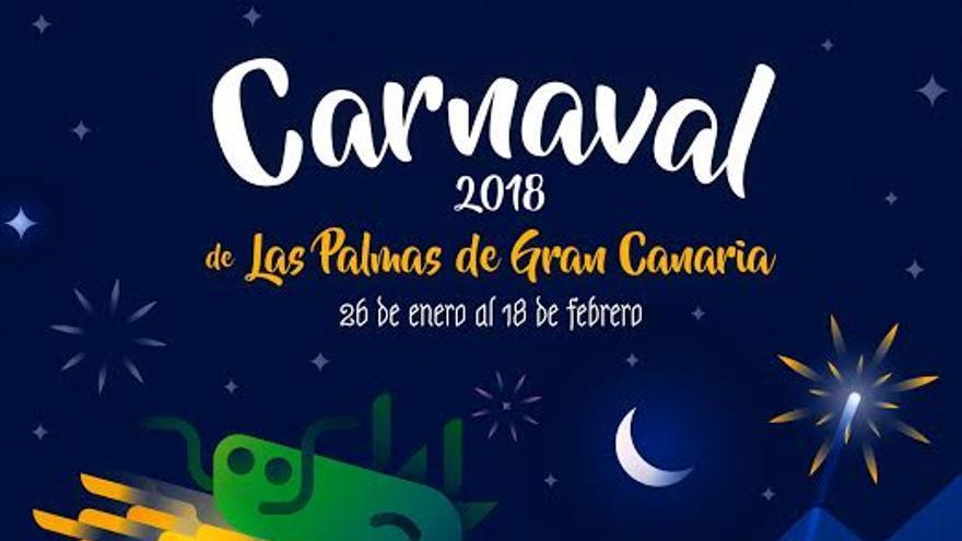 Cartel del Carnaval de Las Palmas de Gran Canaria 2018.