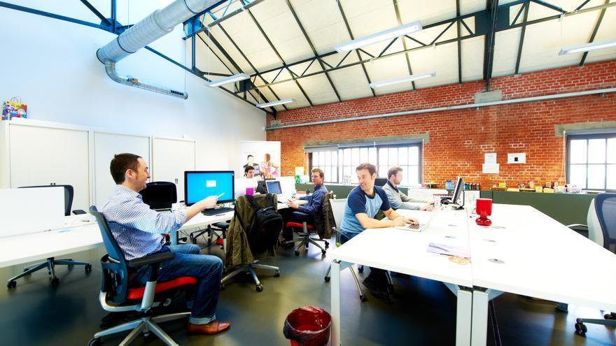 Espacio de coworking en Betacowork, Bruselas. Foto: Natalie Hill