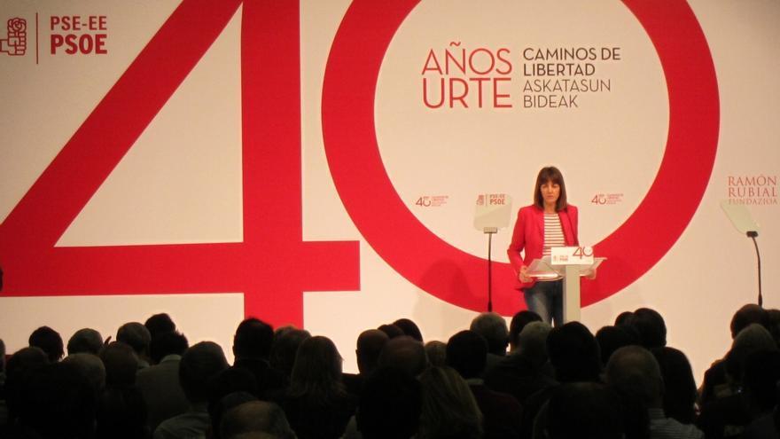 """Mendia afirma que Euskadi recoge hoy """"las libertades y derrota definitiva del terror"""" cosechados por el PSE en 40 años"""