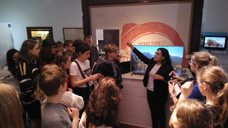 Un momento del encuentro con los participantes en el proyecto.