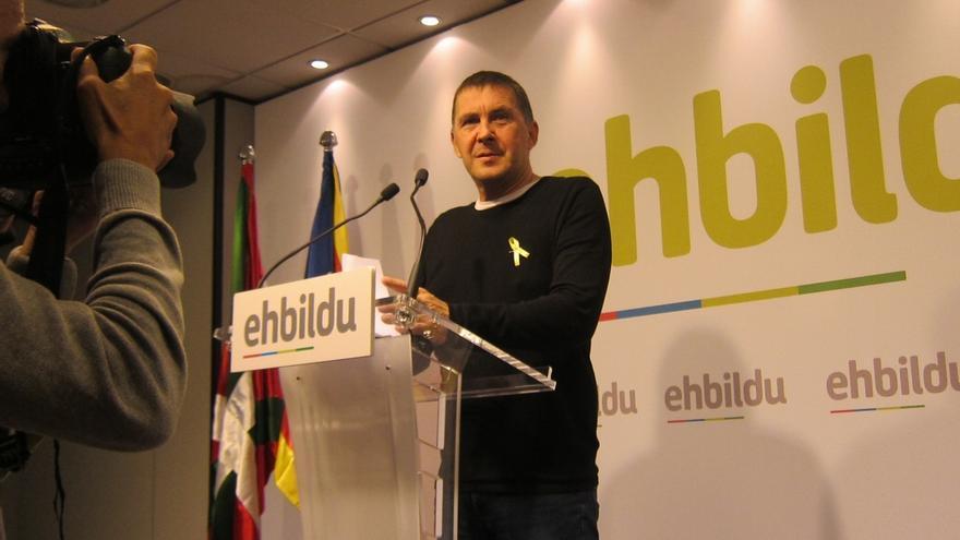 """Otegi: """"Este partido lo ha ganado la República catalana frente a la monarquía borbónica del 155"""""""