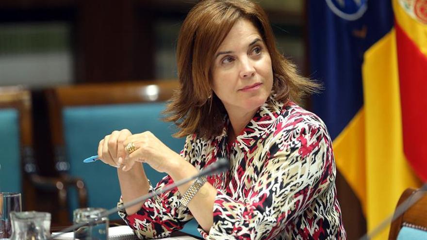 La consejera de Sanidad del Gobierno de Canarias, Teresa Cruz.