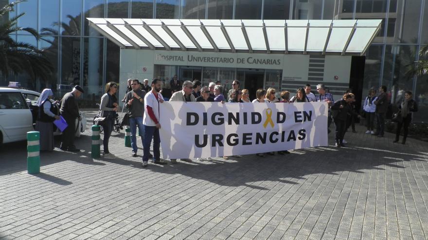Última huelga en el Hospital Universitario de Canarias.