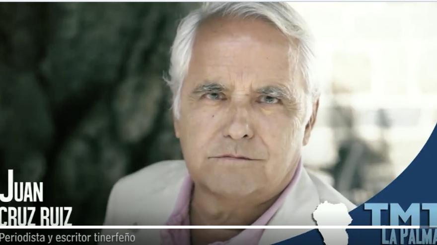 Captura del vídeo de Juan Cruz de apoyo al TMT.