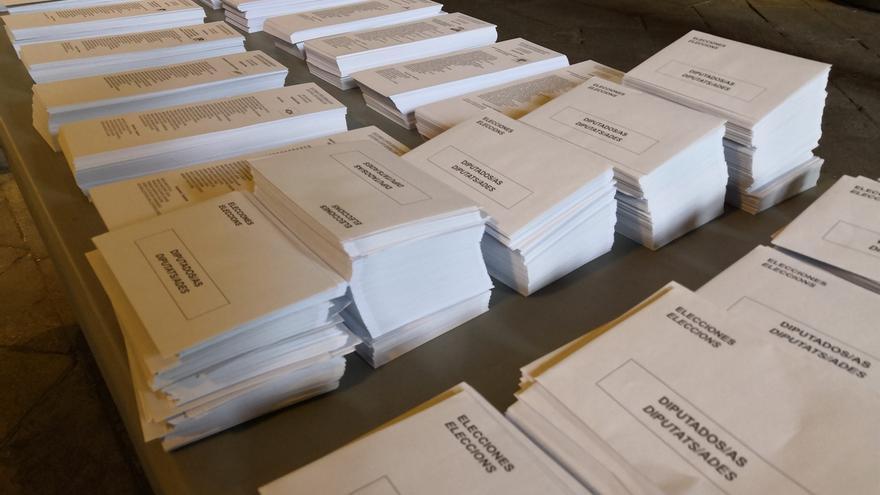 Papeletas electorales.