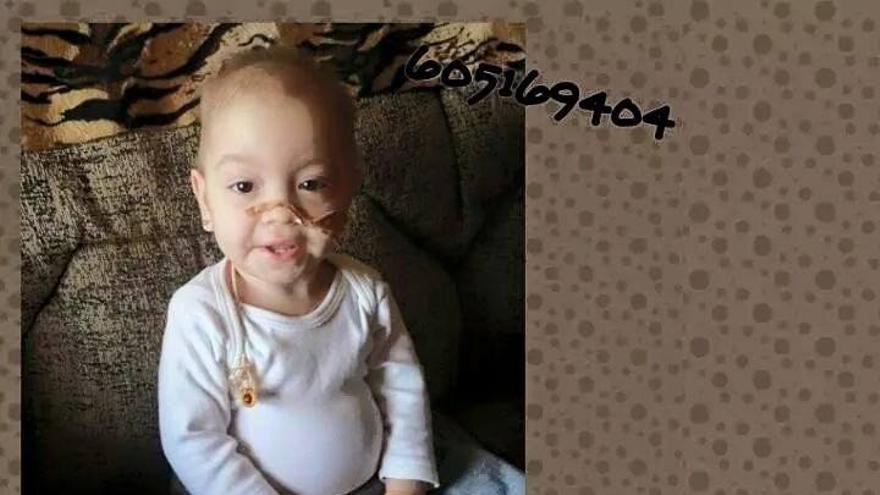 La roquetera Ángela, de dos años, la única andaluza que sufre la enfermedad de Neumann-Pick