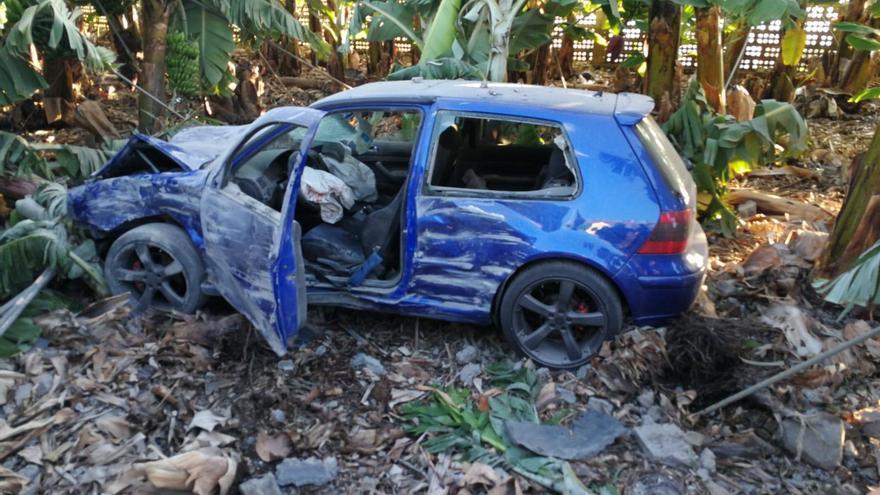 Estado en que quedó el vehículo tras el accidente.