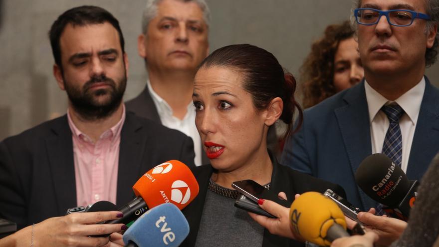 La exvicepresidenta del Gobierno Patricia Hernández tras ser cesada junto a los consejeros del PSOE por Fernando Clavijo (ALEJANDRO RAMOS)