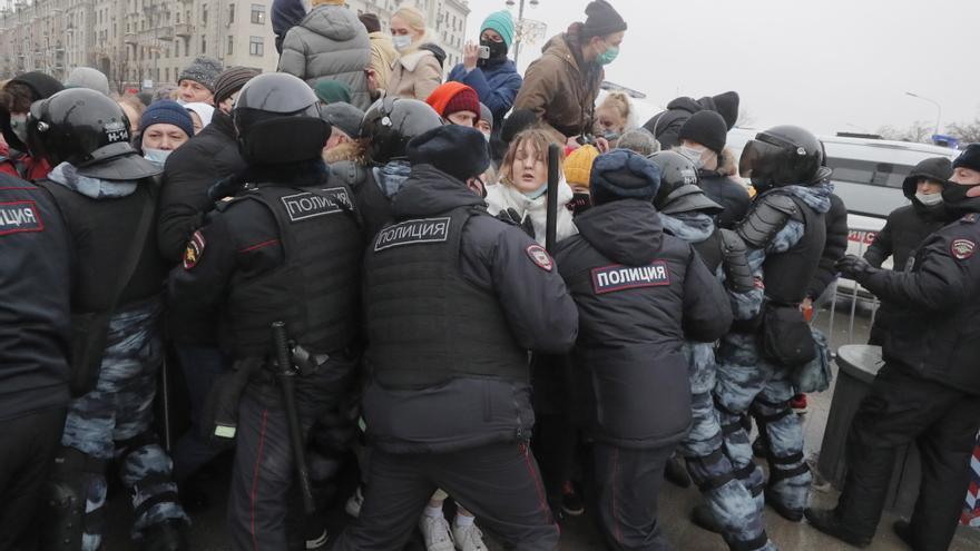 Casi 3.300 detenidos en 122 ciudades rusas durante las protestas en apoyo a Navalny