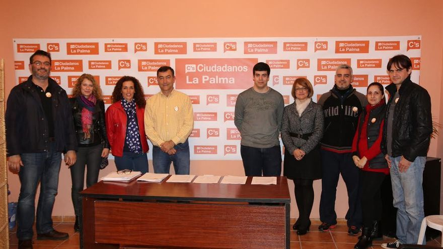 En la imagen, los responsables de Ciudadanos en La Palma.
