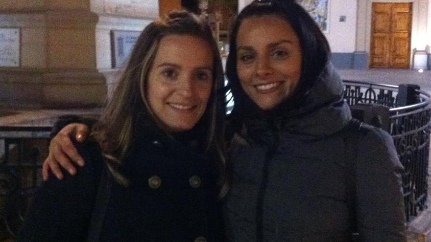 Ángela Ballester y Sandra Mínguez, en Alfafar (Valencia).