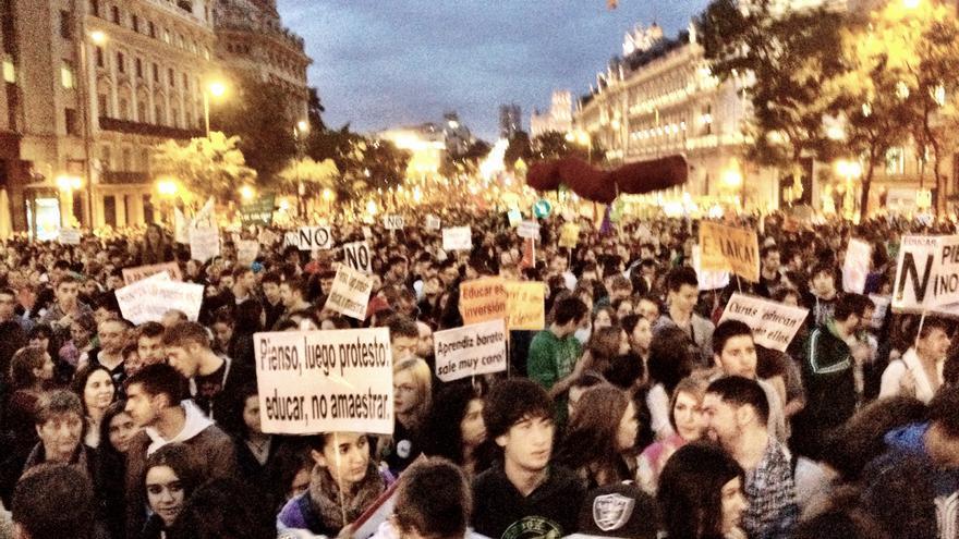 Manifestación contra la LOMCE en la huelga del 24 de octubre /Juan Luis Sánchez