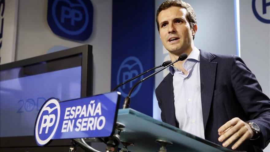 Pablo Casado atribuye al PP la mayor regeneración contra la corrupción en España
