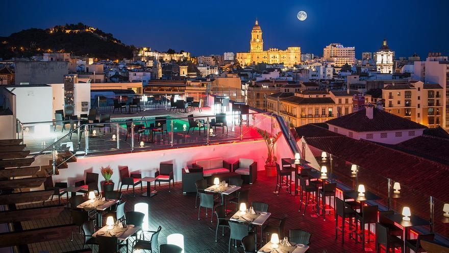 Terraza del SH Málaga Centro.
