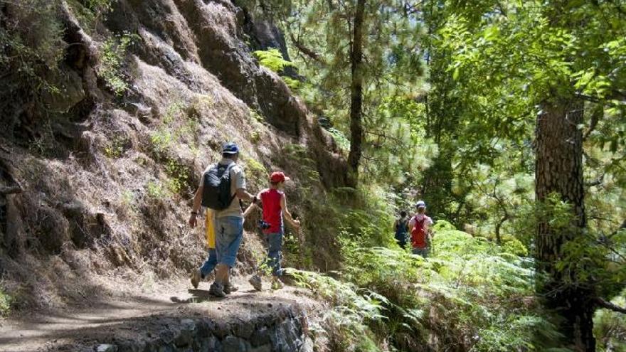 Imagen de archivo de un grupo de senderistas.