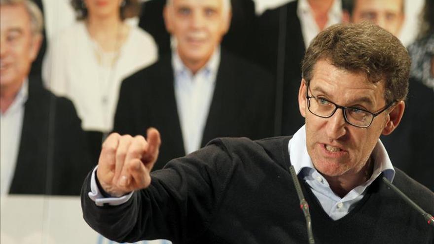 """Feijóo descarta a Ciudadanos y dice que las elecciones son """"una final a tres"""""""