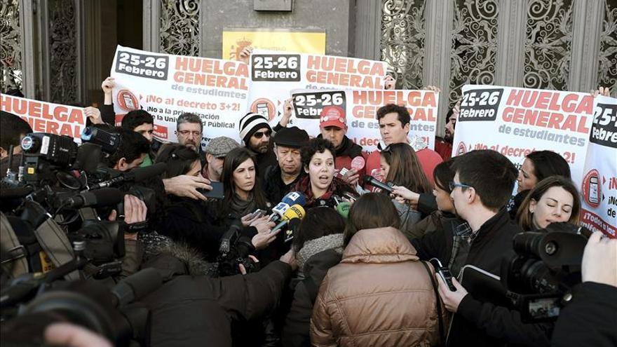 El segundo día de huelga estudiantil incluye manifestaciones contra los grados de 3 años